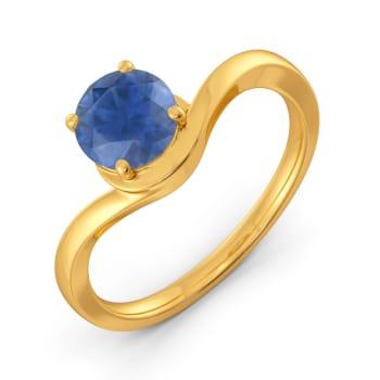 Curly Blues Gemstone Rings