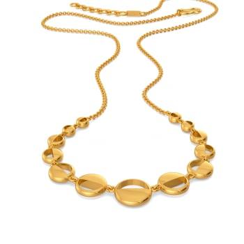 Round N Around Gold Necklaces