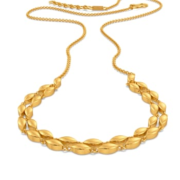 Socially Oval Gold Necklaces