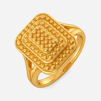 My Kinda Casual Gold Rings