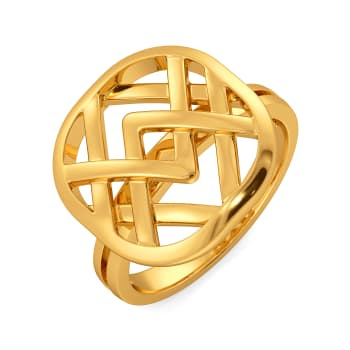 Very Literary Gold Rings