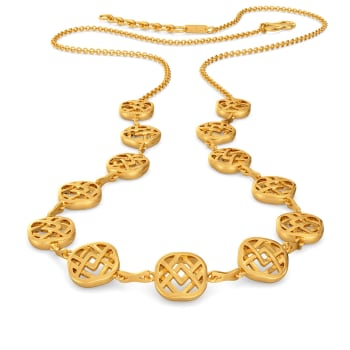 Weave of the Week Gold Necklaces