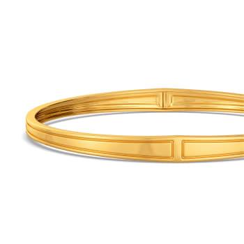 Gravitas Pillar Gold Bangles