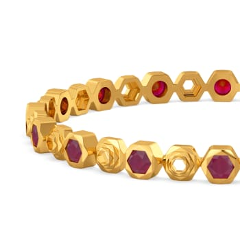Ruby Rhombs Gemstone Bangles