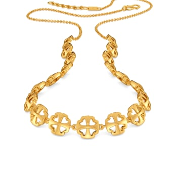 Happy N Hearty Gold Necklaces