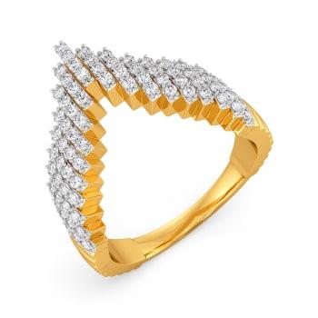 Step Stack Diamond Rings