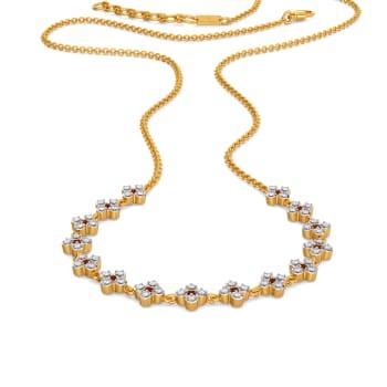 Fleur de la Fun Diamond Necklaces