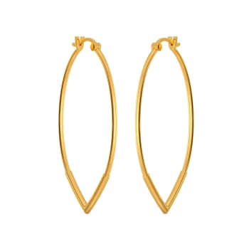 Victory Bound Gold Earrings