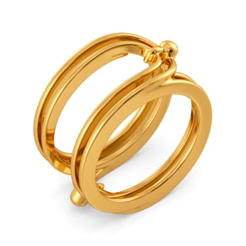 Urban Chains Gold Rings