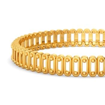 Chain Mails Gold Bangles