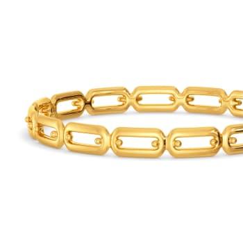 Promising Links Gold Bangles