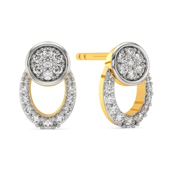 Lateral Layers Diamond Earrings