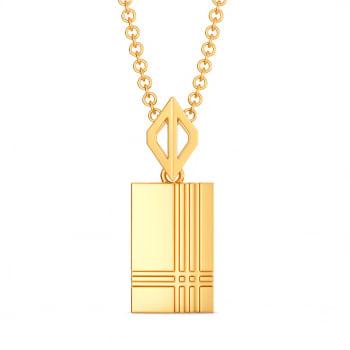 Maverick Plaids Gold Pendants