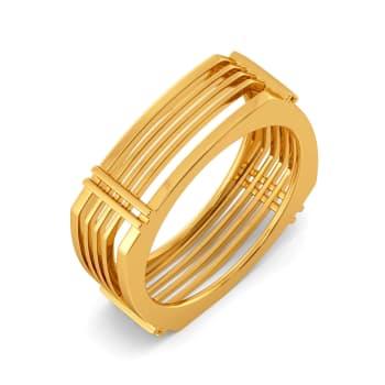 Plaid Panache Gold Rings