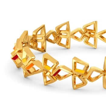 Block N Bold Gold Bangles