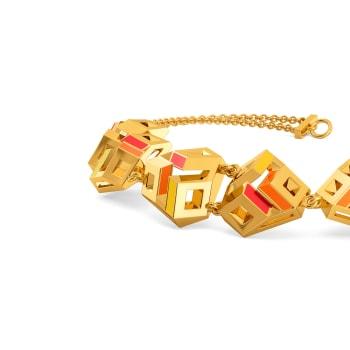 Pop Blocks Gold Bracelets
