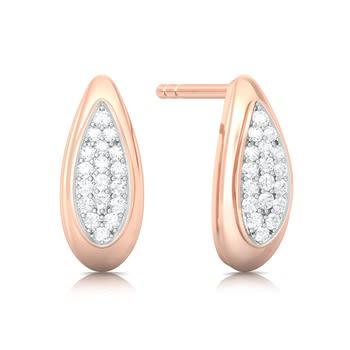 Iced Rose Diamond Earrings