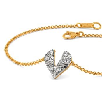 Plaid of Hearts Diamond Bracelets