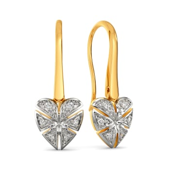 Plaid of Hearts Diamond Earrings