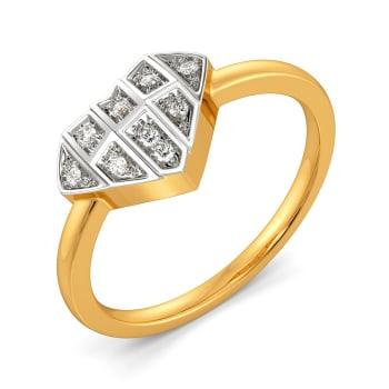 Heart Grids Diamond Rings