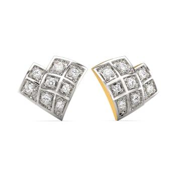 Check Together Diamond Earrings