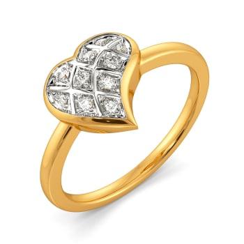Plaid Date Diamond Rings