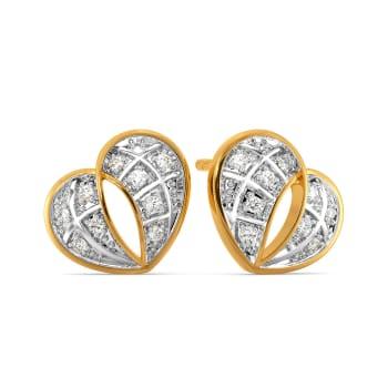 Tartan Heart Diamond Earrings
