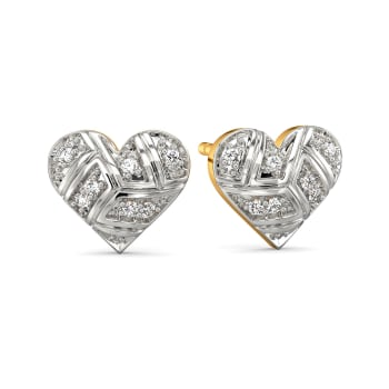 Playful Checks Diamond Earrings