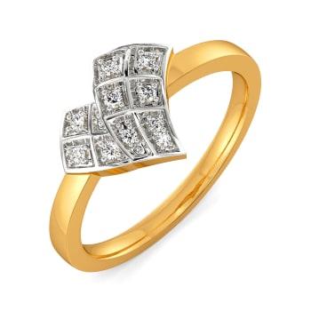 Plaid Lover Diamond Rings