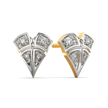 Plaid Lover Diamond Earrings