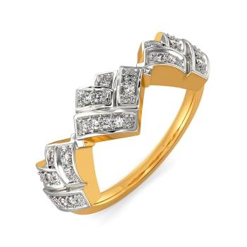 Plaid Partner Diamond Rings