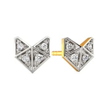 Crush O Check Diamond Earrings