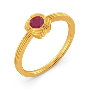 Scarlet Swirls Gemstone Rings