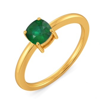 Basil Bite Gemstone Rings