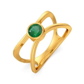 Lime Leisure Gemstone Rings