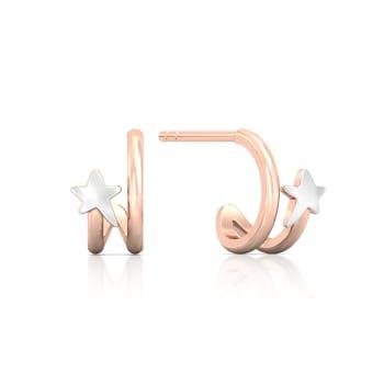 Summer Stars Gold Earrings