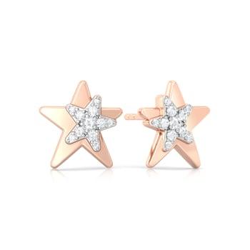 Star Love Diamond Earrings