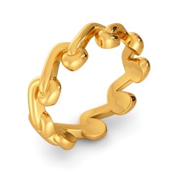 Stitch A Fern Gold Rings