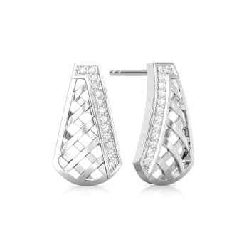 Cross-Hatch Diamond Earrings