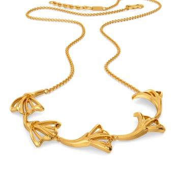 Dusky Petals Gold Necklaces