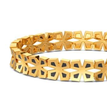 Black N Bloom Gold Bangles