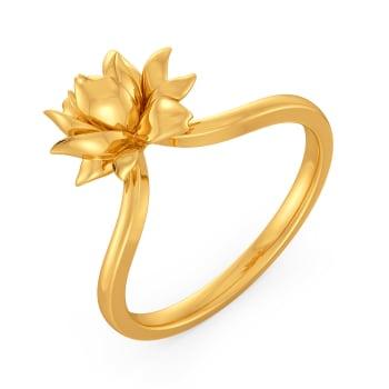 Lotus Dapple Gold Rings