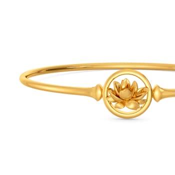 Lotus Dapple Gold Bangles