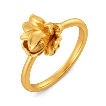 Blossomy Bliss Gold Rings