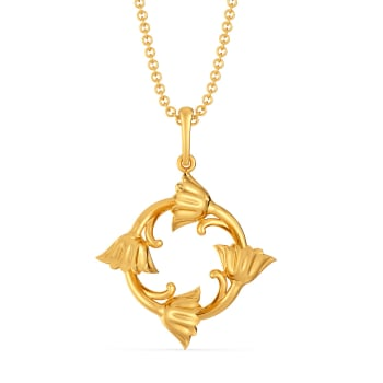 Nectary Silhouette Gold Pendants