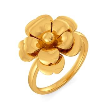 Feisty Florets Gold Rings