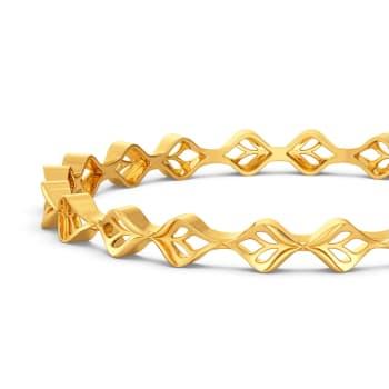 Braidy Dews Gold Bangles
