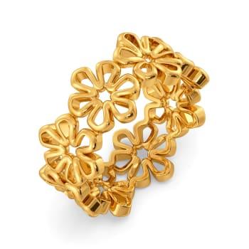 Fleurs Trippées Gold Rings
