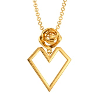 Roses of Love Gold Pendants