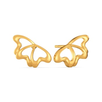 Love Gone Wild Gold Earrings